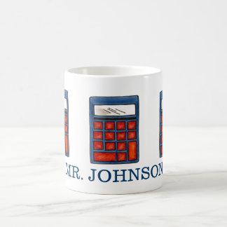 Personalized Math Teacher Calculator School Mug