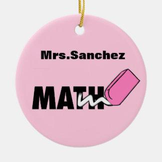 Personalized Math Teacher Ornament