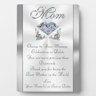 Personalized Meaningful Gifts for Mom, Stunning Plaque