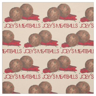 Personalized Meatballs Italian Food Restaurant Fabric