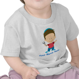 Personalized Mechanic Kids Occupation Gift Tees
