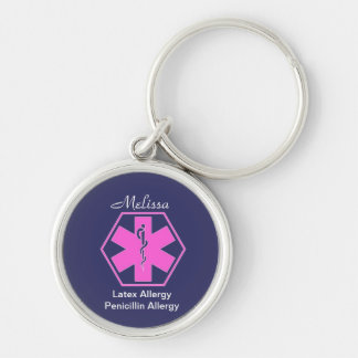 Personalized Medical allergy alert keychains