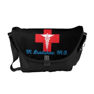 Personalized Medical Medium Messenger Bag