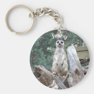 Personalized Meerkat Key Ring