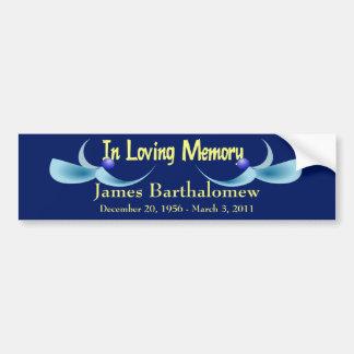 Personalized Memorial Bumper Stickers