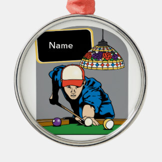 Personalized Mens Billiards Christmas Ornament