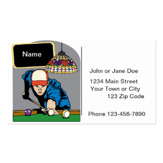 Personalized Mens Billiards Pack Of Standard Business Cards