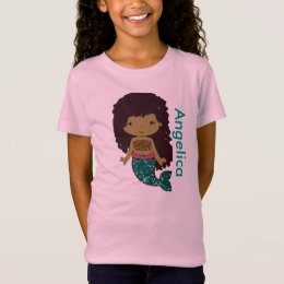 African american mermaid baby shower gifts on zazzle uk personalized mermaid girls shirt negle Images