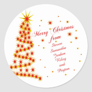 Personalized Merry Christmas from Round Sticker