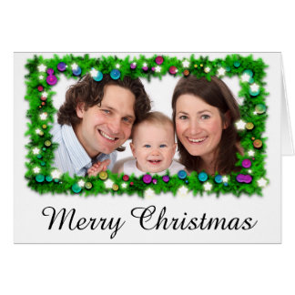 Personalized Merry Christmas Holiday Photo Card