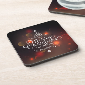 Personalized Merry Christmas Tree | Coaster