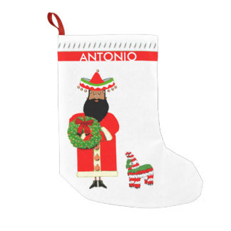 personalized Mexican Christmas stocking
