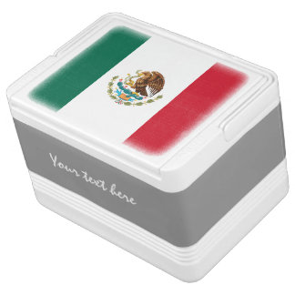 Personalized Mexican flag can cooler box | Mexico Igloo Cooler
