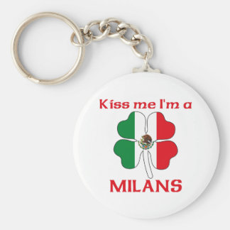 Personalized Mexican Kiss Me I'm Milans Basic Round Button Key Ring
