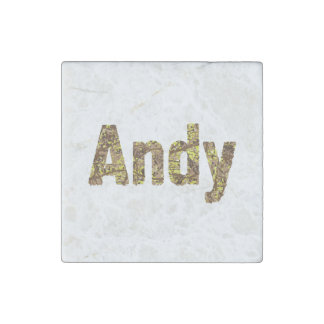 Personalized Military Camouflage Font Andy Stone Magnet