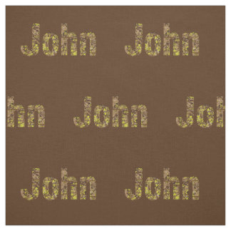 Personalized Military Camouflage Font John Fabric