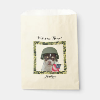 Personalized Military chihuahua dog treat bags Favour Bags