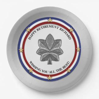 Personalized Military Retirement Party Paper Plate