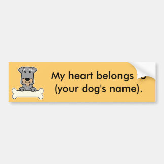 Personalized Miniature Schnauzer Bumper Sticker