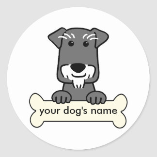 Personalized Miniature Schnauzer Classic Round Sticker