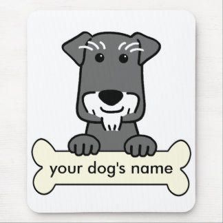 Personalized Miniature Schnauzer Mouse Mat