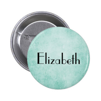 Personalized Mint Green Vintage paper texture 6 Cm Round Badge