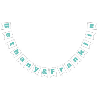 Personalized Mint or Any Custom Color Wedding Bunting