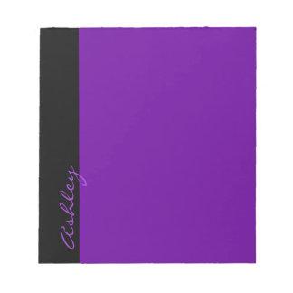 Personalized Modern 519 Purple Notepad