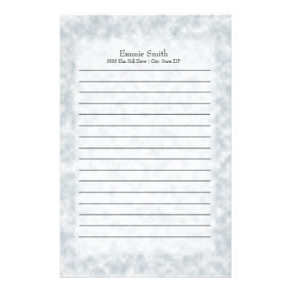 Personalized Modern Blue and White Stationery