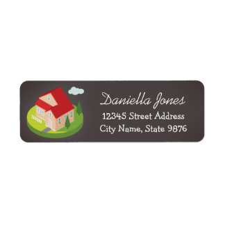 Personalized Modern House Return Address Label