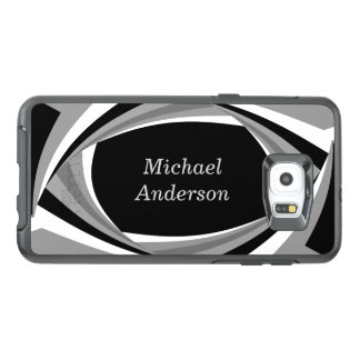 Personalized Modern Stylish Black White Grey OtterBox Samsung Galaxy S6 Edge Plus Case