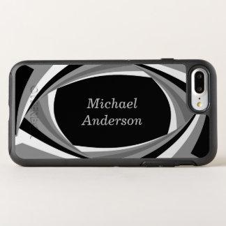 Personalized Modern Stylish Black White Grey OtterBox Symmetry iPhone 8 Plus/7 Plus Case