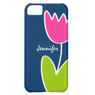 Personalized Modern Tulip iPhone 5C Case