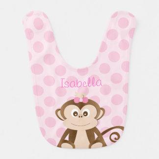 Personalized Monkey Baby Bib