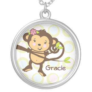 Personalized Monkey Necklace