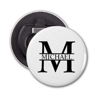 Personalized Monogram and Name Bottle Opener