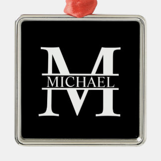 Personalized Monogram and Name Christmas Ornament