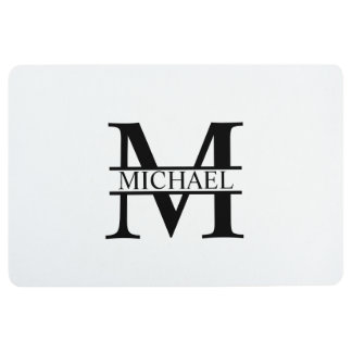 Personalized Monogram and Name Floor Mat