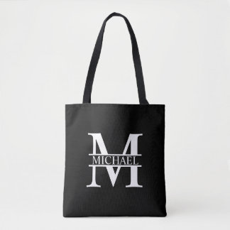 Personalized Monogram and Name Tote Bag
