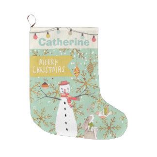 Personalized Monogram ANY Name Christmas Holiday Large Christmas Stocking