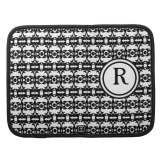 Personalized Monogram Black and white patterned Organizers