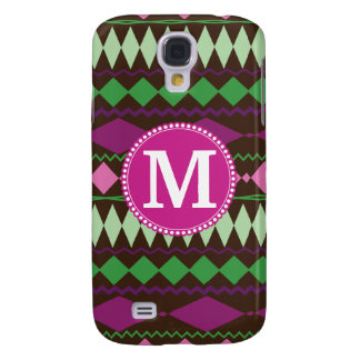 Personalized Monogram Custom Tribal Pattern Galaxy S4 Case