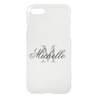 Personalized monogram elegant clear iPhone 7 case