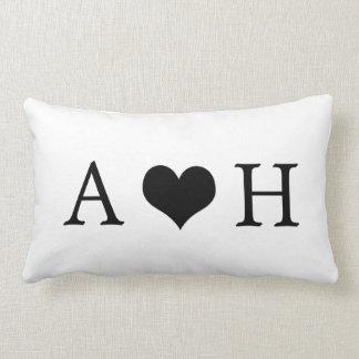 Personalized Monogram Engagement Home Decor Pillow