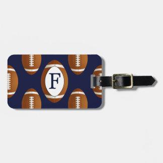 Personalized Monogram Football Balls Sports Bag Tag