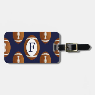 Personalized Monogram Football Balls Sports Luggage Tag