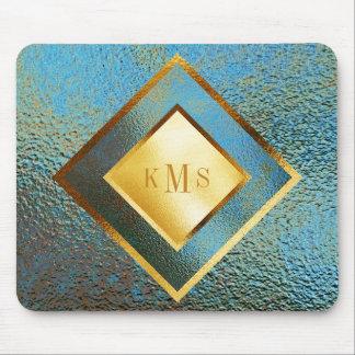 Personalized Monogram Golden Geometrical Mousepad