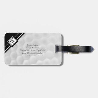 Personalized Monogram Golf Ball Luggage Tag