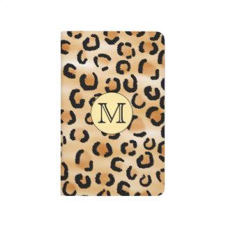 Personalized Monogram Leopard Print Pattern. Journal