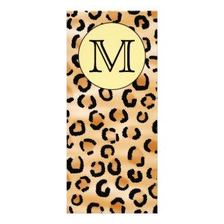 Personalized Monogram Leopard Print Pattern. Rack Card